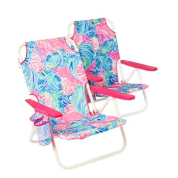Lilly Pulitzer Set Of 2 Beach Chairs New In Box